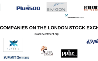 ISRAELI COMPANIES LISTED ON THE LONDON STOCK EXCHANGE